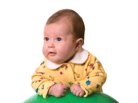 Baby on ball for massage isolated Stock Photo - 2245085