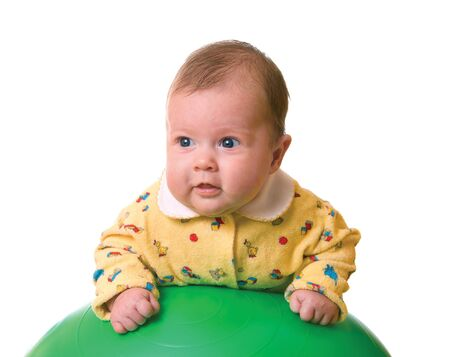Baby on ball for massage isolated Stock Photo - 2245084