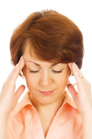 Portrait of a beautiful woman with migraine Stock Photo - 4653161