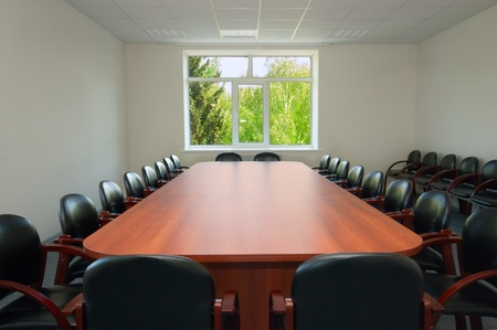 Interior of conference hall with window Stock Photo - 9608210