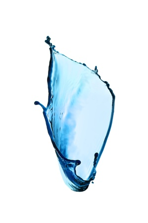 transparency color: Blue transparent water splash isolated