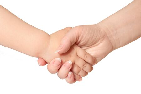 woman holds by the hand the child Stock Photo - 9646907