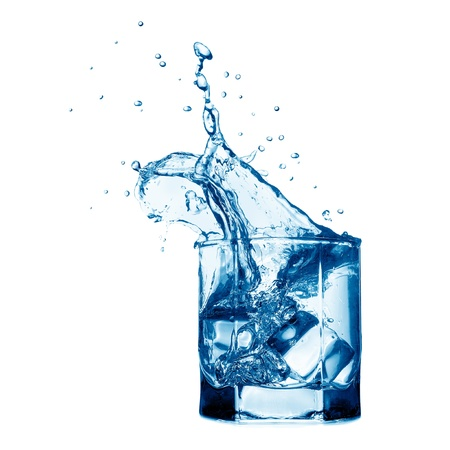 Splash in the glass with water Stock Photo - 10821988