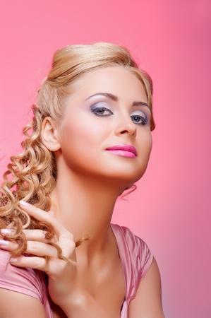 Studio portrait of young woman photo