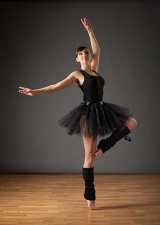Young ballerina in black costume Stock Photo - 12312727