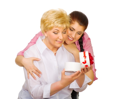 Senior woman with her dauhter isolated Stock Photo - 12648867