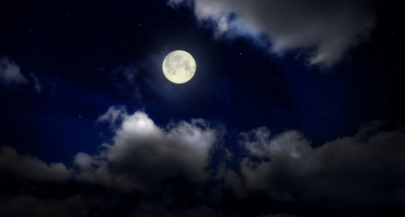 Night cloudy sky with moon Stock Photo - 15257706