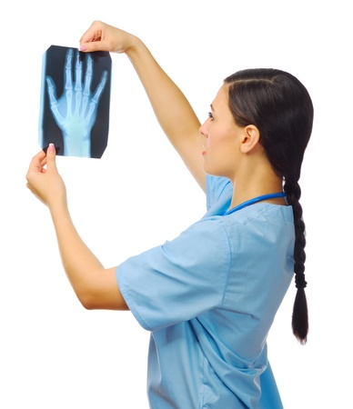 Young doctor with x-ray isolated Stock Photo - 17639821