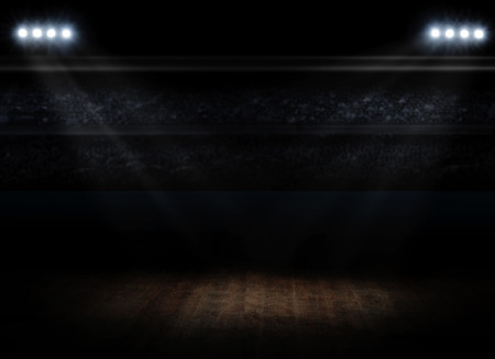 Sporthalleninnenraum mit Strahlern Standard-Bild