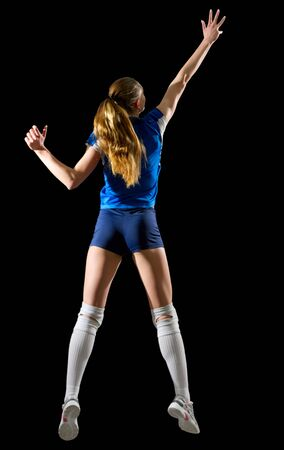 Young woman volleyball player (ver without ball and net)