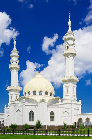 White mosque at summer day