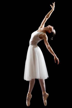Young ballerina (isolated on black version)