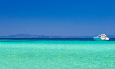 Sea coast at sunny day