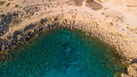 Clear blue water aerial view