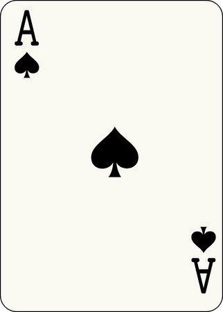 Ace of Spades, individual playing card - An isolated vector illustration of a playing card  Vector