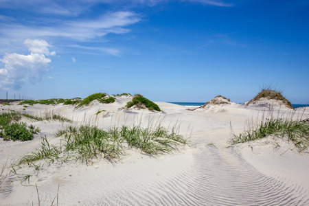 outer: Outer Banks sand dunes Stock Photo