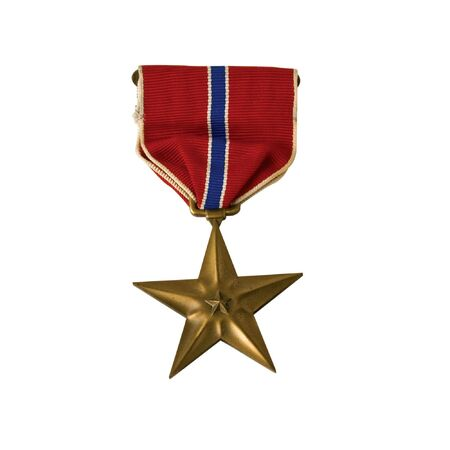 A Bronze star awarded for valor in action
