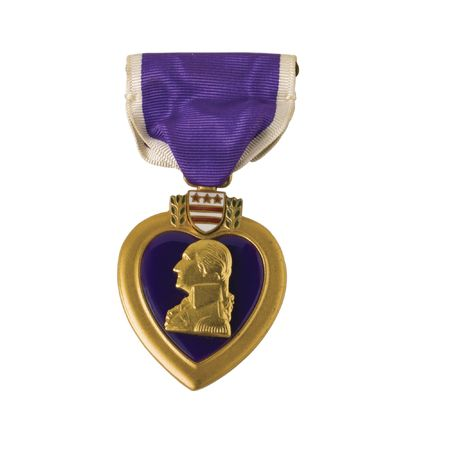 Awarded for being wounded in action.