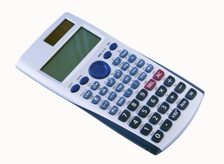 algebra calculator: An algebra calculator isolated