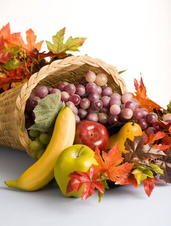 The open mouth of a cornucopia the horn of plenty Stock Photo