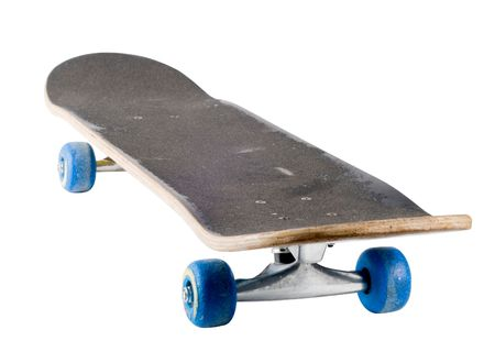 grungey: skateboard isolated with a clipping path