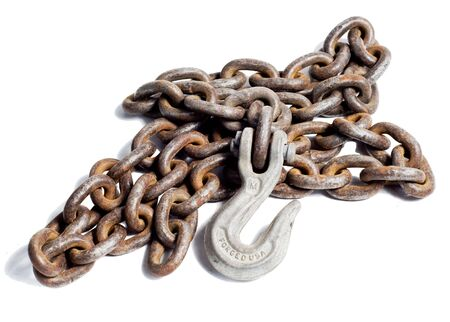 Chain and hook, isolated with clipping path