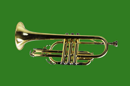 Trumpet isolated with a clipping path