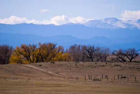 An autumn scene looking west towards the Rock Mountains. Stock Photo - 3815328