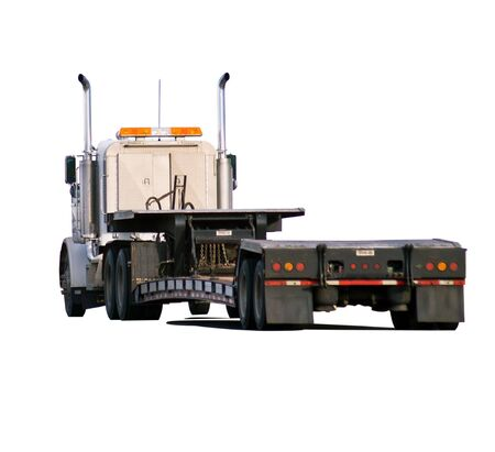 hauler: Heavy hauler looking for a load. Isolated with clipping path