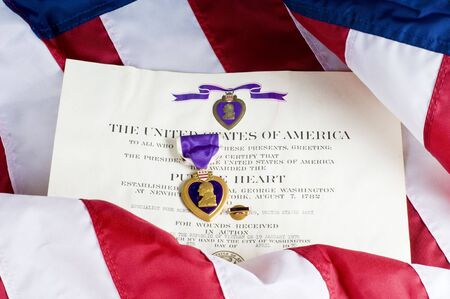 valor: American service award for being wounded in action Stock Photo