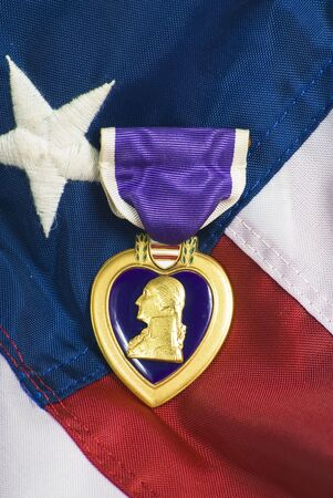 Purple heart awarded for wounds in combat