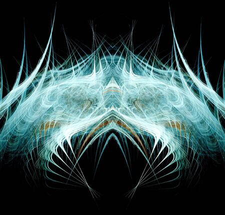 Fractal rendition of a deep sea creature