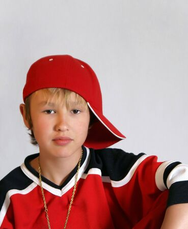 Pre-teen boy looking cool and hip for a portrait Stock Photo - 5089993