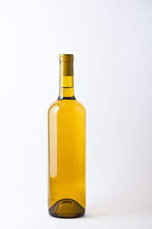 unopened: Unopened bottle of white wine