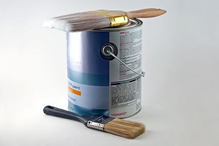 paintbucket: One gallon can of paint and a couple of brushes to apply it.