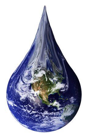 The Earth shaped as a teardrop. photo