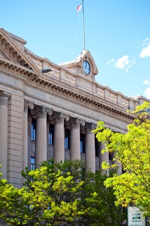 The Weld county courthouse in Greeley, Colorado USA Stock Photo - 8177814