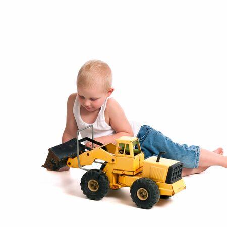 pre schooler: Cute Little Construction Worker