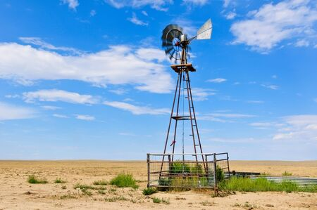 Spinning Vanes on a Windmill Stock Photo - 14838168