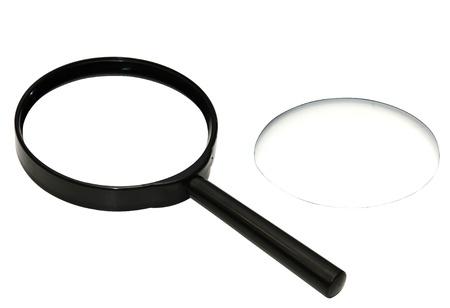 別のレンズの付いた虫眼鏡