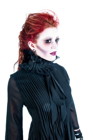 Victorian ghost of a pretty young woman with red hair