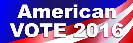 Bumper sticker for the 2016 Presidential election in the USA.