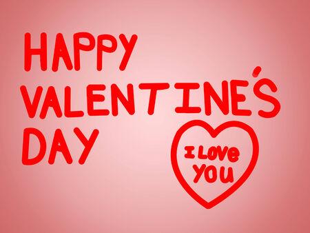 Kinderachtig uitziende Valentijnskaart zoals een jong kind zou geven aan zijn moeder. Stockfoto - 35147141