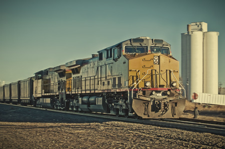 freight train: Freight train going through a rural Colorado town.