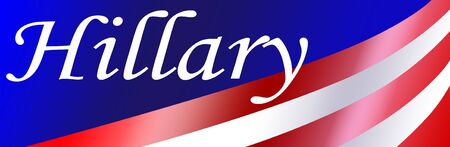 independance: Hillary bumper sticker background with gradient colorss for a patriotic USA event.