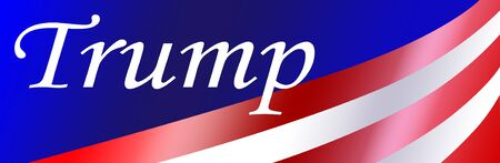 independance: Trump bumper sticker background with gradient colorss for a patriotic USA event.