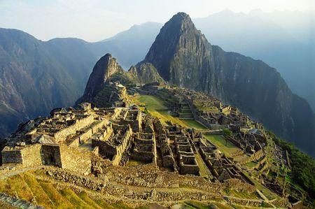 machu picchu: View of ancient incas town of Machu Picchu. Perugrave.