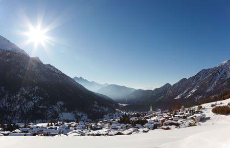 Antagnod Ski resort, Valle dAosta, Italy. photo