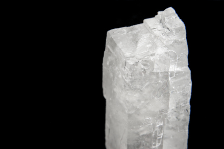 gemology: Extreme close-up on a small quartz crystal. Stock Photo
