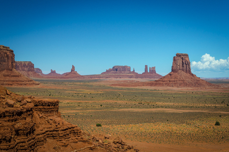 valley view: Monument Valley View Stock Photo